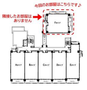隣接した住戸が無いため、四面採光を説明した配置図